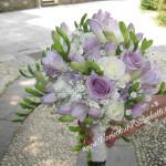bouquet di fresia e rose