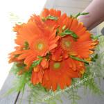bouquet di gerbere arancioni