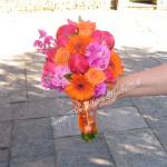 bouquet con peonie e pisello odoroso