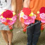 Celosia gerbere e rose