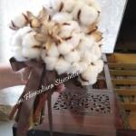 Bouquet di fiori di cotone